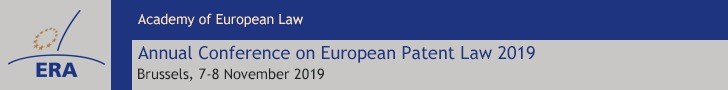 ERA Annual Conference on European Patent Law 2019