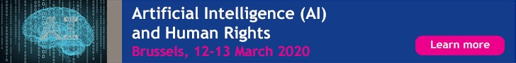 ERA: AI & Human Rights 12-13 March 2020, Brussels