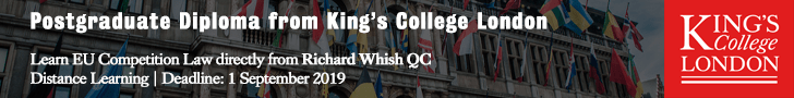 KCL PostGrad Diploma EU Competition Law 2019