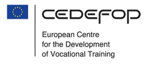 CEDEFOP - European Centre for the Development of Vocational Training